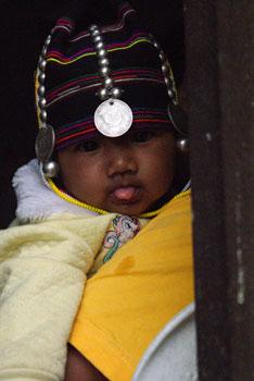 Akha Baby Girl Tongue