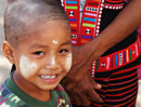 Little Lahu boy wearing Thanakha