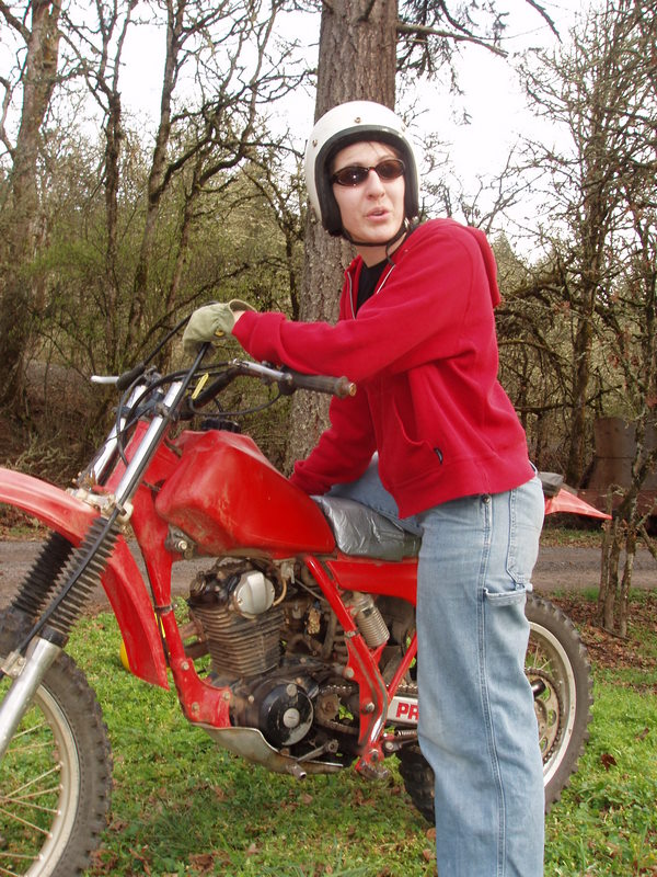 Lori and her Dirtbike