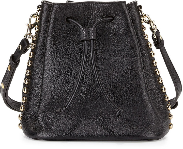 Black Leather Bucket Bag by Rebecca Minkoff