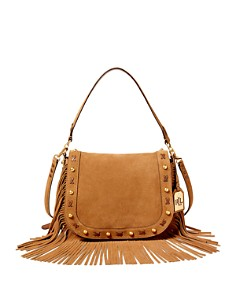 Similar Ralph Lauren Suede Fringe Saddle Bag