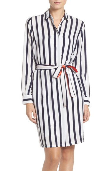 Eliza J Stripe Shirtdress
