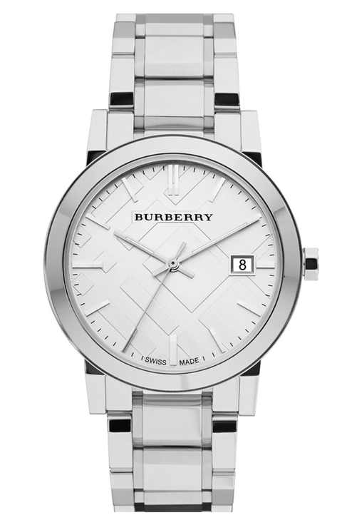 Burberry Large Check Stamped Bracelet Wacth