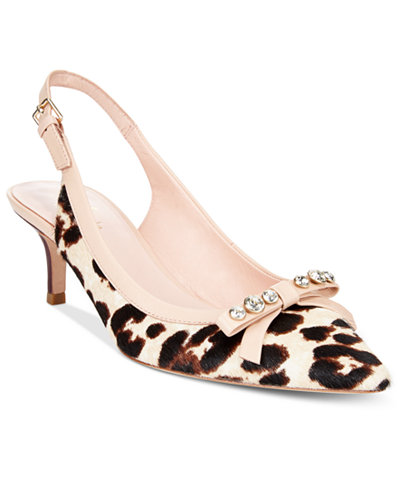 Palina Animal-Print Slingback Pumps