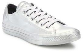 CONVERSE CHUCK TAYLOR METALLIC RUBBER LOW-TOP SNEAKE