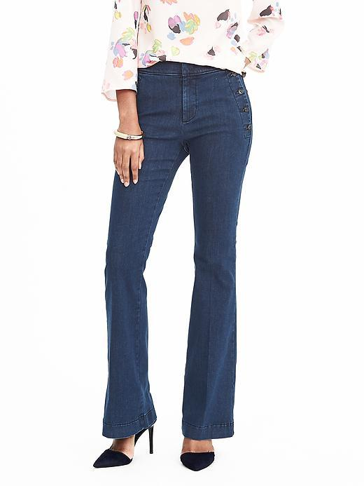 Banana Republic Sailor Flare Oak Wash Jean