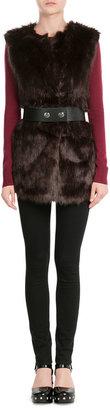 Karl Lagerfeld Faux Fur Vest
