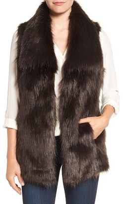 Women's Via Spiga Faux Fur Vest