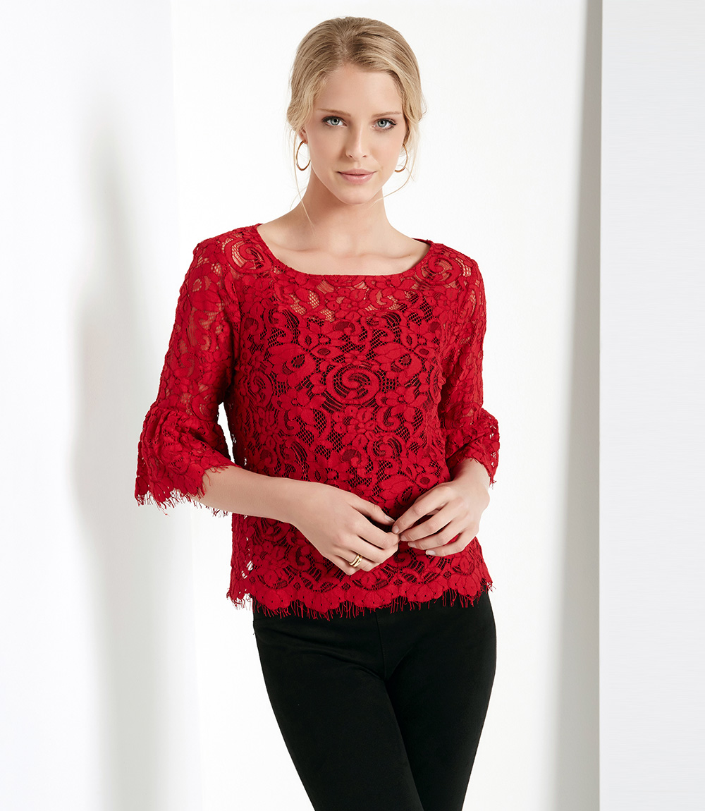 Karen Kane Sleeve Lace Top