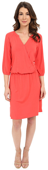 TOMMY BAHAMA TAMBOUR 3/4 SLEEVE BLOUSON DRESS