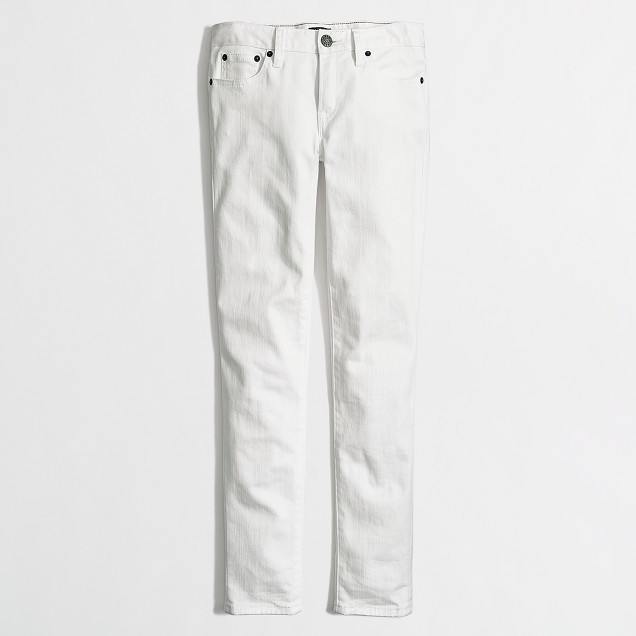 J.Crew Factory White Jeans