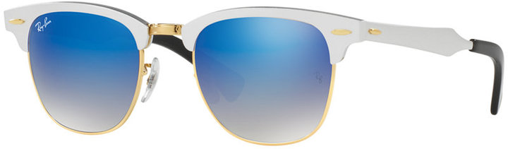 RAY-BAN CLUBMASTER ALUMINUM SUNGLASSES