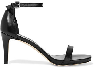 STUART WEITZMAN - NUNAKED LEATHER SANDALS - BLACK