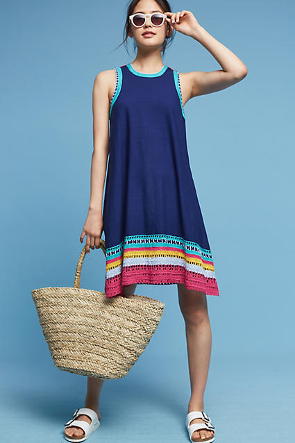 Akemi + Kin Crochet Trim Swing Dress