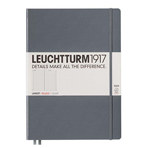 Leuchtturm1917 Hardcover Master Slim Ruled Notebook Anthracite