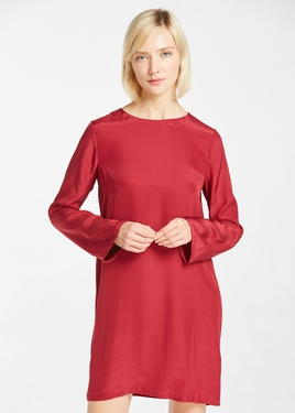 22MM Round Neck Casual Silk Dress Hot Sale on Lilysilk
