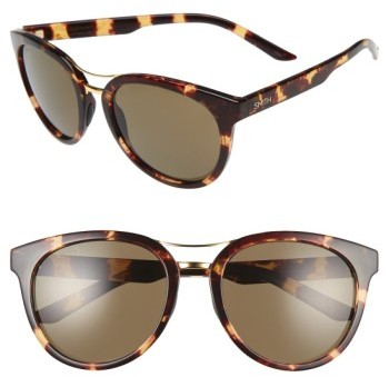 Women's Smith 'Bridgetown' 54Mm Aviator Sunglasses - Tortoise/ Grey Green Polar