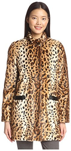 Via Spiga Women's Faux Fur Animal Print Coat by: Via Spiga