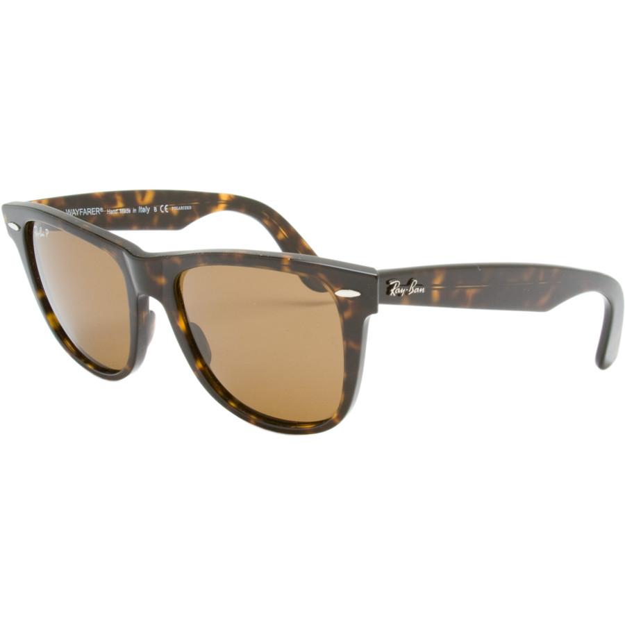 Ray-Ban Original Wayfarer Polarized Sunglasses Tortoise/Crystal Brown Polarized, M