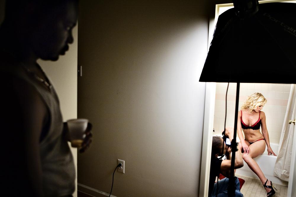 Photo shoot in Brooklyn apartment
