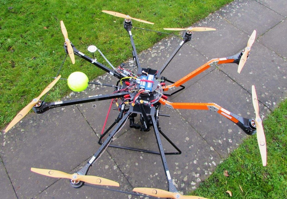 Our pilots used this high spec home-built drone to capture images and video.