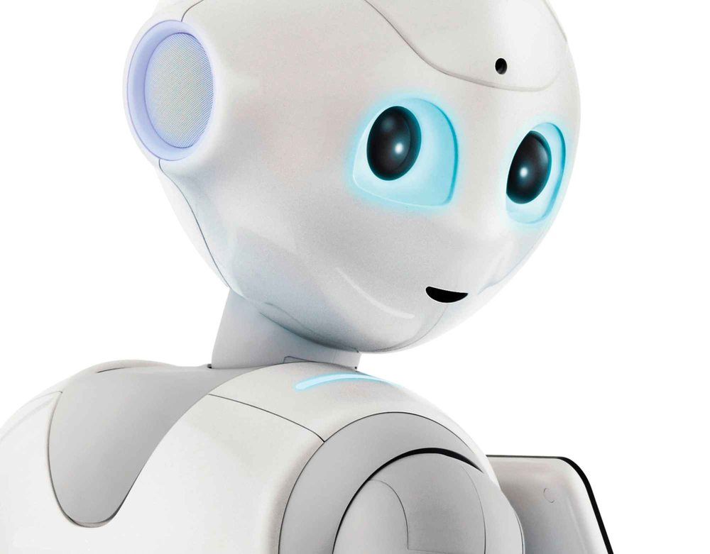 (Maybe) coming to a reception area near you. Pepper the robot