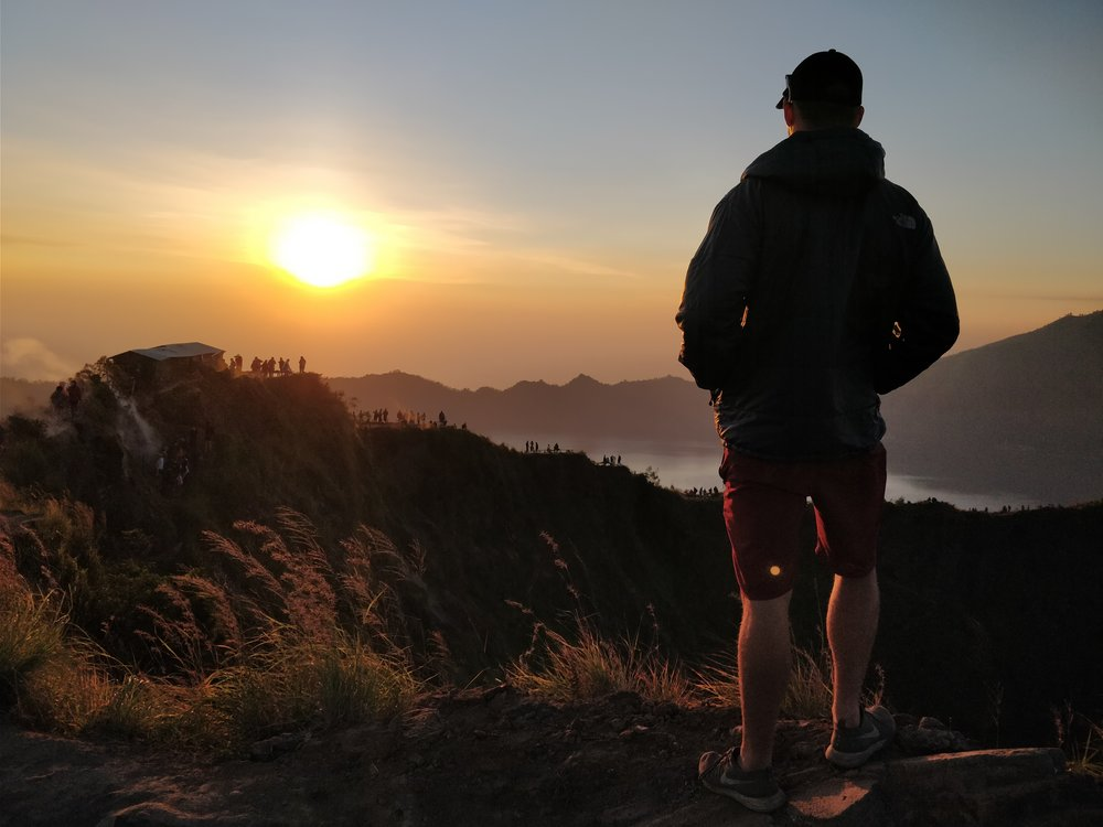 How's this for headspace? Mt. Batur Volcano sunrise - apt reward for getting up at 4:30am!