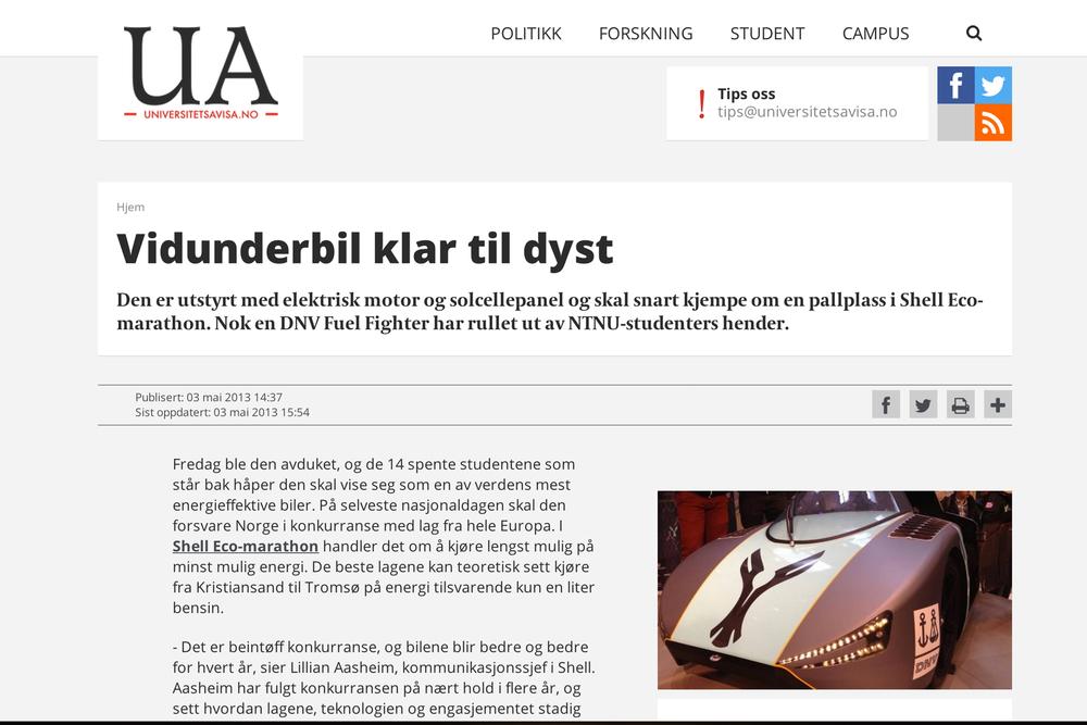 Universitetsavisa // 03.05.2013