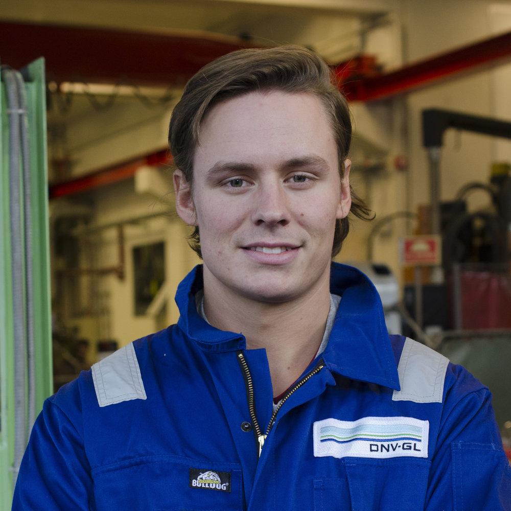 MCU developer Kristoffer Rakstad Solberg Marine Technology, 3rd year Hometown: Lørenskog