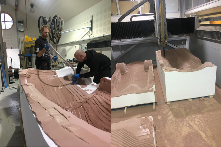 Milling the epoxy paste