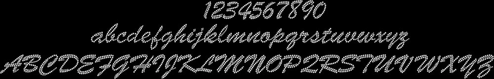 script-rhinestone-font