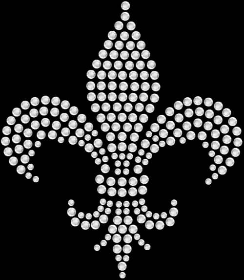 "A902- Fleur Di Lis  3"" W .         Add on price: $1.75"