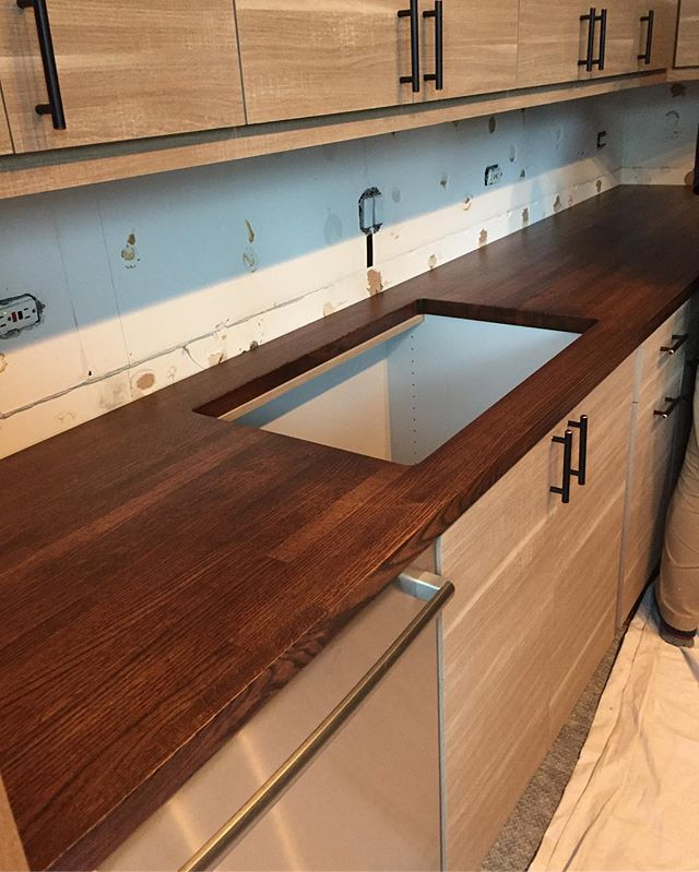 Kona stained Red Oak