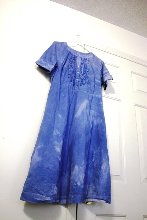 Dye cotton dress