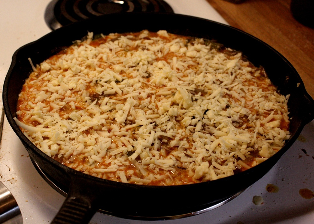 Cover the top with your favorite shredded cheese.