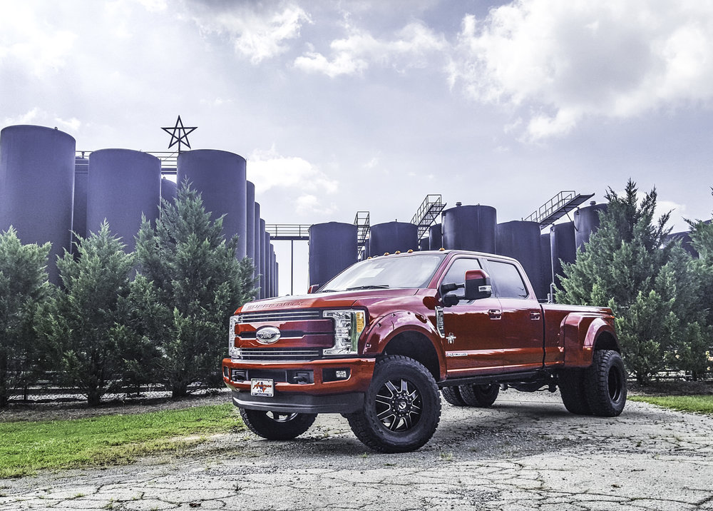 Ford F-350 Dually Black Widow - Ruby Red