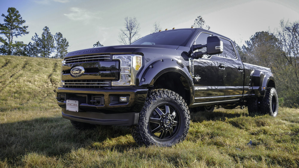 Ford F350 Dually Black Front Qtr Close.jpg