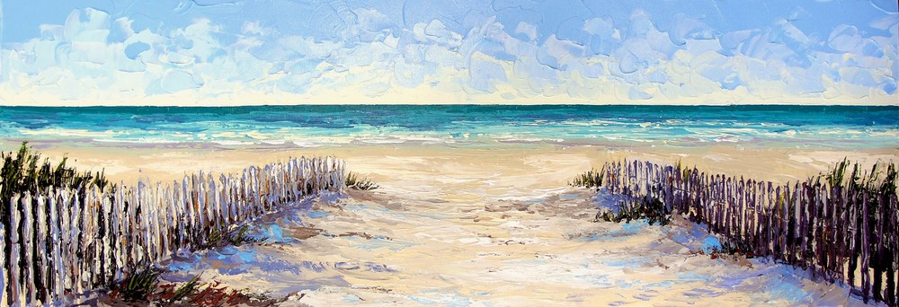 """Drift Fence"" 12x36 - SOLD"