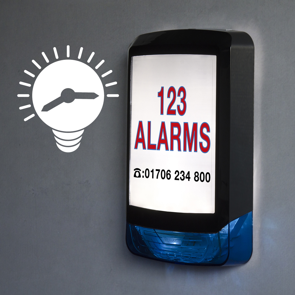 Backlight can be controlled by alarm panel