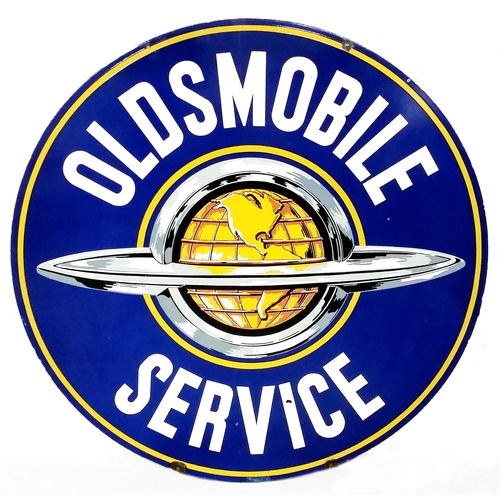 "60"" Oldsmobile Service Porcelain Sign"