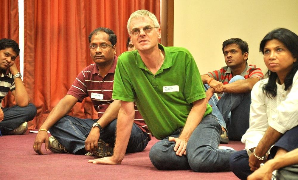 Jos van Haaren in een workshop met collega's (Foto: Jos van Haaren)