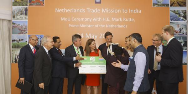 Henk Schouten tijdens de handelsmissie in mei 2018.