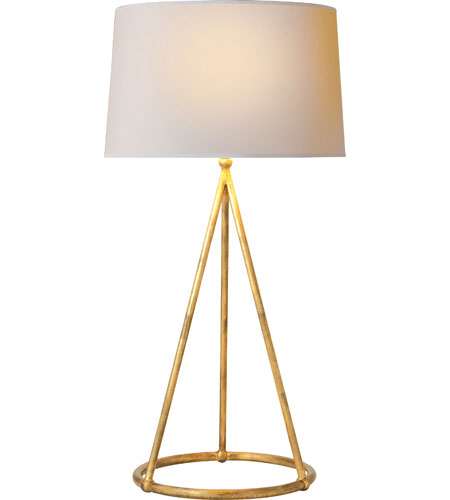 Nina Tapered Table Lamp in Gilded Iron