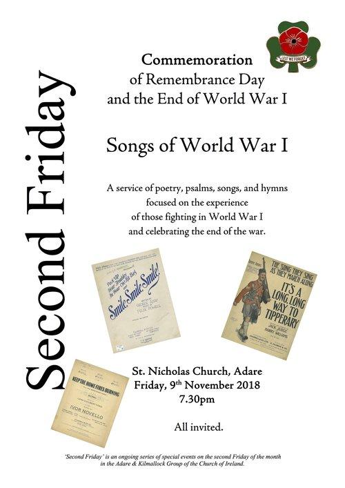 Songs of World War I — Adare & Kilmallock Group of Parishes