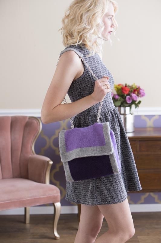 Laren Felted Cross-Body Bag