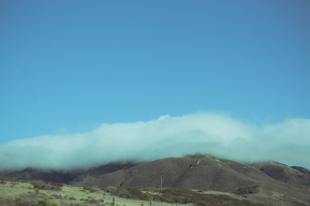 low clouds Route 395, California