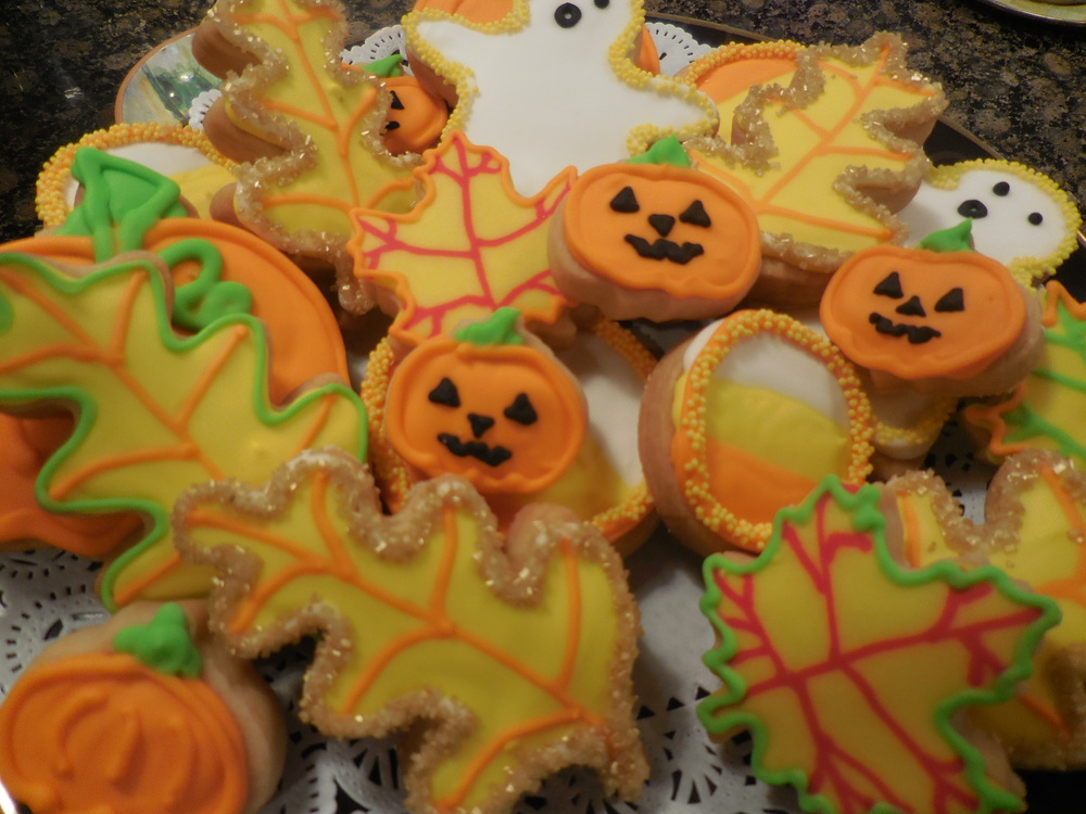 Fall Halloween Custom Cookies