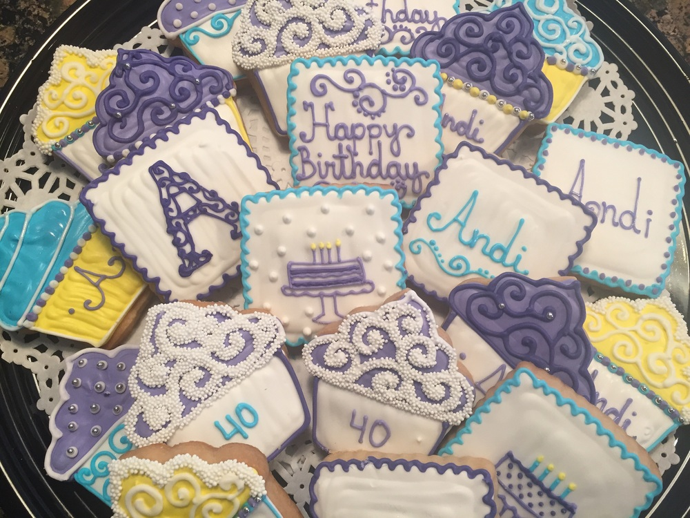 Birthday Custom Cookies