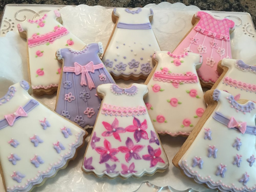 Baby Girl Dresses/ Baby Shower Custom Cookies