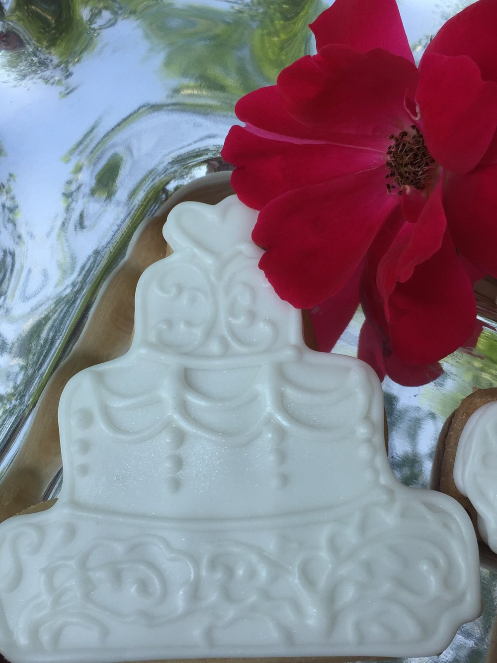 Wedding Cake Custom Cookies
